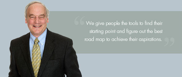 We give people the tools to find their starting point and figure out the best road map to achieve their aspirations.